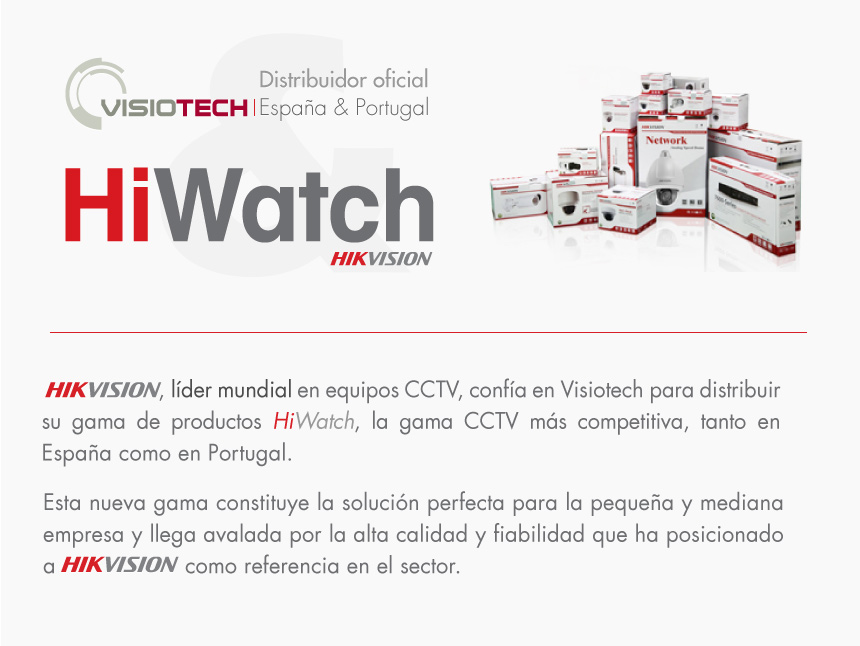 Visiotech Distribuidor Oficial Hi Watch Hikvision